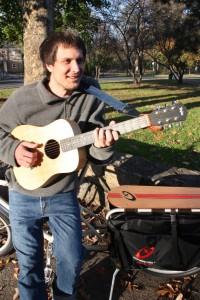 Jon Watts and his Xtracycle Radish Bike