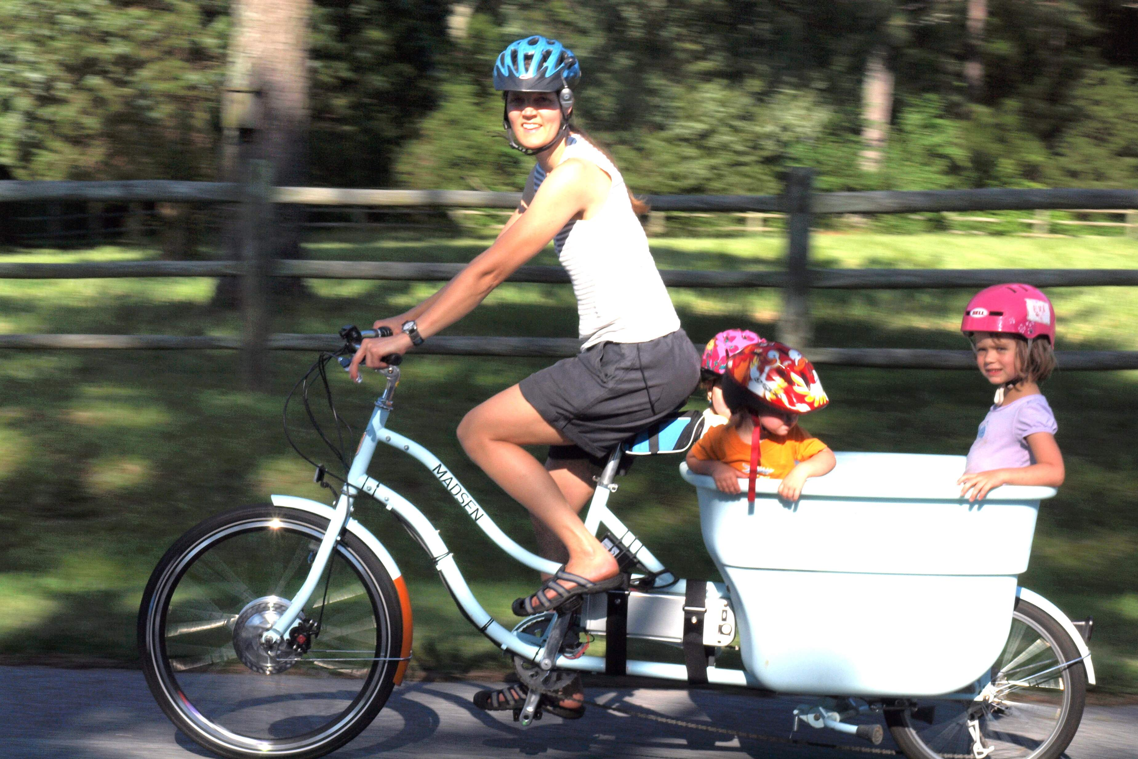 Child Bike Seat, Bike Trailer, or Cargo Bike? Exploring the options A great article exploring the options for carrying kids by bike.
