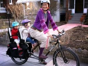 Mom with 2 kids on a Big Dummy